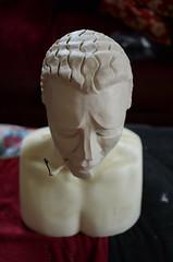 Louche Mask (Sir Nadroj) Tags: clay sculpt resin mask making modernist art deco moderne 1920s 1930s 1940s theatrical benda sculpture mannequin