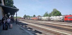 Orosháza Station Hungary on May 15 2017 (davids pix) Tags: budapest oroshaza station diesel locomotive mav 628 223 hungary