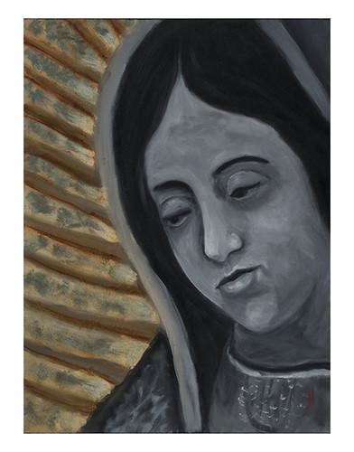 Autor: HERVER LETICIA LOPEZ CASTAÑEDA, Las manos de La Virgen  50x40 cm