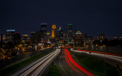 The City of Minneapolis (dharanbro.graphy) Tags: minneapolis minnesota unitedstates city night light lighttrail skyline traffic weather interest photograpghy sony alpha65