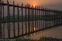 Myanmar, Mandalay (Khun Hans Photography) Tags: myanmar sunrise burma asia bridge river water sun nature landscapes nikon d810 earlymorningphotos lake coppercloudsilvernsun photography planetearth nationalgeographic