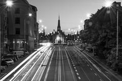 Brama Portowa B&W (MichalKondrat) Tags: szczecin miasto noc ulica uliczne wieczór światła brama portowa d300s