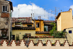 No Cable TV (Ron Scubadiver's Wild Life) Tags: urban landscape sky architecture clouds nikon florence italy rooftop