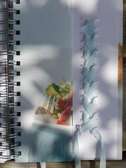 Laced up (Landanna) Tags: lacedup embroidery embroideryonpaper broderi broderipåpapir borduren bordurenoppapier bullionknot