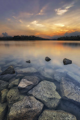 JAGGED (ChieFer Teodoro) Tags: canon 6d 1635mm lee filter proglass nuetral density graduated gitzo arca swiss phottix pcl6dr aion lower pierce reservoir singapore sunset water rocks long exposure