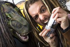 Furious Dolphin 68 (furiousdolphin) Tags: david van joint yurassic park rasta dreadlocks mask raptor t rex bite stoned high bomb