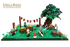 A Long Expected Gathering - ABS Builder Challenge Part 1 (-Balbo-) Tags: lego moc bilbo lordoftherings hobbit birthday shire balbo bauwerk creation