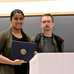 Mahima Goel, Charles Osgood Award; Professor John Hummel