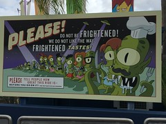 """Universal Studios, Florida: Sign outside Kang & Kodos' Twirl 'n' Hurl • <a style=""""font-size:0.8em;"""" href=""""http://www.flickr.com/photos/28558260@N04/34701466826/"""" target=""""_blank"""">View on Flickr</a>"""