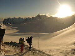 a nice sunrise in the Alps