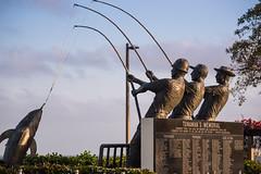 Teamwork (stevekl0) Tags: 2017 clouds day fishing marble memorial photo sandiego shelterisland sign sky statue stone tuna