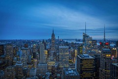 NEW YORK - blue hour from Rockefeller Center (Klaus Mokosch) Tags: newyork architecture architektur bluehour blauestunde city night nacht urban nyc usa america amerika klausmokosch light cityscape citylight cityview outdoor rockefellercenter wow