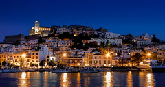 A blue night in Ibiza. (The city guy ☺) Tags: ibiza balearicislands spain nightphotography blue port portdeivissa walking waterways walkingaround travelling tourism outdoors city cityscapes