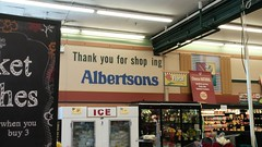 Welcome – now get out! (Retail Retell) Tags: albertsons grocery store missoula mt montana retail industrial circus decor package broadway
