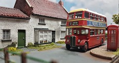 Regent Bus at Ockley. (ManOfYorkshire) Tags: aec regent roe bodywork bus diecast whitemetal kit assembled high standard ockly diorama 176 scalemodel oogauge detailed building terminus route5 kirton busstation
