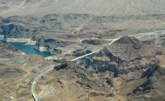 Hoover Dam and road by-pass (Vee living life to the full) Tags: hooverdam architecture lasvegas nevada arizona river flood dam nikond300 2017 holiday travel tourism tourist placestovisit traveller pleasure usa sheer drop mountains skyline horizon transport bridge bypass road travelling driving map location water las vegas tours helicopter view flight airways grandcanyonhelicopters air aeroplane copilots seat