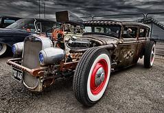 1931 Ford Hot Rod. (bainebiker) Tags: 1931fordhotrod hotrod vintage oldtimer transport hdr canonef24mmf14liiusm sky clouds podington northamptonshire uk