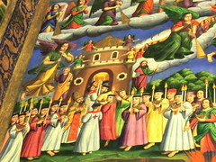 Armenian orthodox church painting of gate from purgatory to heaven - Isfahan, Iran (Germán Vogel) Tags: angel armenian art asia cathedral ceiling christian christianity church decoration inside iran isfahan islamicrepublic middleeast minorities minority painting vank westasia silkroad muslimculture middleeastculture travel traveldestinations traveltourism tourism touristattraction landmark holidaydestination orthodox backgrounds middleeasternerculture religiousminorities diversity religioustolerance tolerance procession threshold gate