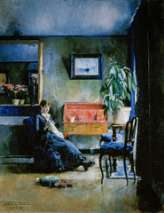 Harriet Backer - Blue Interior, 1883 at National Museum of Art Oslo Norway (mbell1975) Tags: oslo norway no harriet backer blue interior 1883 national museum art nasjonalmuseet for kunst museo musée musee muzeum museu musum müze museet finearts fine arts gallery gallerie beauxarts beaux galleria painting norkse norge noreg norwegen noruega norvège norvegia 노르웨이 挪威 норвегия norwegian impression impressionist impressionism nasjonalgalleriet