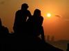 日落戀人  Sunset Lovers (Alice 2018) Tags: color gouple two lover city water people sea orange sun sunset boat shadow cloud reflection sky beach seashore 2017 hongkong summer canonef24105mmf4lisusm canoneos6d eos6d canon 24105mm favorites50 platinumheartaward 1000views aatvl01 1500v60f autofocus aatvl02 aatvl03 3000v120f