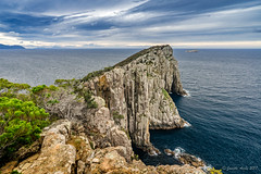 Cape Hauy (NettyA) Tags: 2017 3capestrack australia sonya7r tasmannationalpark tasmanpeninsula tasmania tassie threecapestrack bushwalk bushwalking day4 hike hiking capehauytrack cliffs track trail clouds sea seascape dolerite rocks capehauy