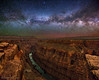 "2 Rivers at Toroweap (IronRodArt - Royce Bair (""Star Shooter"")) Tags: milkyway toroweap grandcanyon grandcanyonnationalpark stars starrynight starrynightsky universe arizona heavens coloradoriver coloradoplateau"