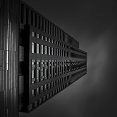 Tour des Canadiens II (s.W.s.) Tags: city urban architecture abstract building blackandwhite square black montreal neutraldensity quebec canada skyscraper up lightroom nikon d3300