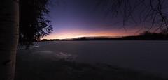 Softness of the winter night :) (Haapih) Tags: winter landscape finland lake snow sunset ice suomi kiuruvesi softness moody coutryside nightscape