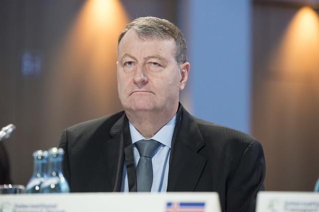 Sigurbergur Björnsson attending the Closed Ministerial