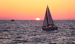 Sailing at sunset - Hertzelia beach (Lior. L) Tags: sailingatsunsethertzeliabeach sailing sunset hertzelia beach sea sailboat seascapes travel hertzeliabeach