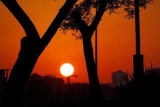 Urban sun, somewhere