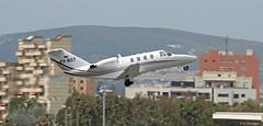 Cessna 525 CitationJet CJ1 YU-BST departing LXGB (Mosh70) Tags: cessna525citationjetcj1 yubst lxgb gibraltar gibraltarinternationalairport