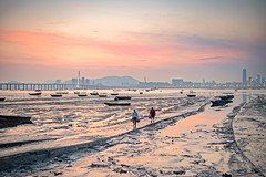 Sunset afterglow at Lau Fau Shan, Hong Kong (johnlsl) Tags: sunsetafterglow laufaushan hongkong