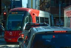 Sydney Light Rail - LRV2123 turns into Hay Street at Pitt. Haymarket Sydney. (john cowper) Tags: sydneylightrail lrv2123 urbos3 caf pittstreet haystreet haymarket transportfornsw publictransport sydney newsouthwales