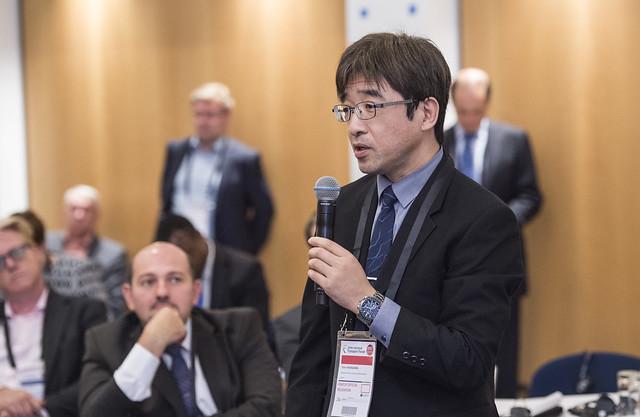 Toru Hasegawa raising a question