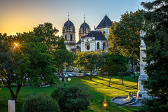 Sunset and cathedral (Orlando Mouchel) Tags: sunset cathedral sonnenuntergang dom crépuscule cathédrale tramonto cattedrale catedral crepúsculo غروب كاتدرائية закат собор 日落 大教堂
