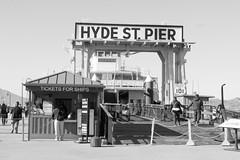 Hyde Street Pier (takashi_matsumura) Tags: sanfrancisco california unitedstates hyde street pier ca usa nikon d5300 ngc bw black white monochrome sigma 1750mm f28 ex dc os hsm