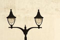 Twin street light (Jan van der Wolf) Tags: map16848v streetlight streetlamp lamp straatlantaarn wall muur minimalism grancanaria silhouette