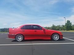 20170610_154031 (UDPride) Tags: 1997 bmw m3 e36 sedan hellrot bright red germany contour spoke black leather