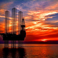 North Sea sunset (davidstyles1) Tags: drilling offshore offshoreoilandgas jackup sunset sea northsea