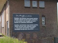 Ida Gerhardt op het Gemaal Poelsluis (Gray Moon Gallery) Tags: idagerhardt poelsluis deprofundis gemaal zuiderwoude gedicht poem