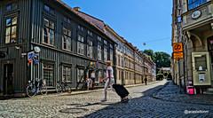 In the middle (@acastellonm) Tags: sweden suecia haga gothenburg gotemburgo goteborg scandinavia distric barrio shop shopping tienda distrito mujer girl carro calle street composición