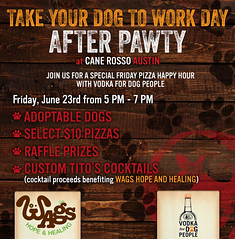 2017 - Take Your Dog to Work After Party Pawty CRL Austin 6-23-2017 (canerossotx) Tags: dog graphic flier pups after pawty afterpawty party