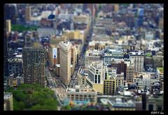 Flatiron Building Tiltshift - Midtown, New York City, NY. (SpottingWithTom) Tags: flatiron building manhattan midtown nyc new york city 5th avenue broadway cityscape architecture tiltshift