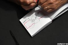 """Dédicace/Signing Session – Jean BARBAUD, """"Il était une fois... la Vie""""/""""Once Upon a Time… Life"""" (Festival international du film d'animation-Annecy) Tags: 2017 3mercredi citia dédicaces annecy dédicace festival internationaldufilmdanimati bonlieu bdfugue internationaldufilmdanimation"""