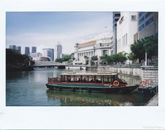 Instax - 2017-06-17 - 1457 (gprana) Tags: boat cbd film fujifilm fujifilminstax210 fullertonhotel instantfilm instax instaxwide singapore singaporeriver