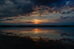 Sunset - Cospudener See (Robert Zebahl) Tags: sky himmel sunset sonnenuntergang lake see water wasser cospudenersee leipzig nikon d3300 reflexion reflection astoundingimage wolken clouds