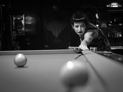 Sam's Billiards (Dan Sadowsky) Tags: pdxsquared pdxsq pdxsq17 hollywooddistrict portland billiards blackwhite