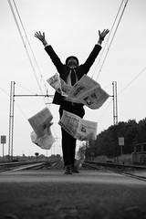 Man in Black#4|Novara|Italy (Giovanni Riccioni) Tags: giovanniriccioniphotography novara 2017 freedom libertà free libero manwithhat maninblack uomoconcappello elegance elegantdress uomoelegante manontherailway uomosuferrovia ferrovia personasuferrovia binario binari railway newspaper giornali giornalialvento newspaperinthewind openedarms bracciaaperte maniallinsù manialcielo handstoheaven canoneos5d 5d fullframe canon eos 50mm canon50mmf18 canonef50mm18stm canonef50mmf18stm portrait ritratto blackandwhite blackwhite black white biancoenero bw