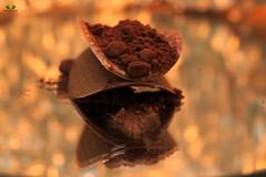 Smile On Saturday #Chocolate (Argentarius85) Tags: nikond5300 sigma105mmf28exdgoshsm smileonsaturday chocolate schokolade kakaopulver cocoa powder cocoapowder bokeh light sweet reflection reflections reflexionen spiegelung depthoffield dof smooth goldenbokeh candy foodporn tones